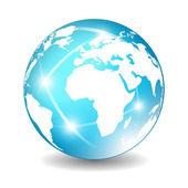 Earth globe icon — Stock Vector
