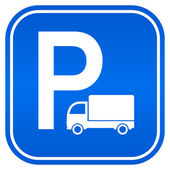 Lorry parking sign — Stock Vector