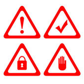 Vector protection icons — Stock Vector