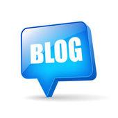 Vector blog icon — Stock Vector