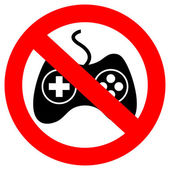 No gaming vector sign — Stock Vector