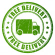 Free delivery vector stamp — Stock Vector