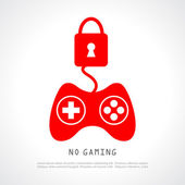 No gaming poster — Stock Vector