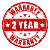 Two year warranty stamp — Stock Vector