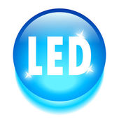 Led technology icon — Stock Vector