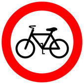 Vector no bicycle sign — Stock Vector