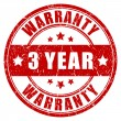 Stock Vector: Three year warranty stamp