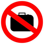 No hand baggage — Stock Vector