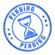 Stock Vector: Vector pending stamp