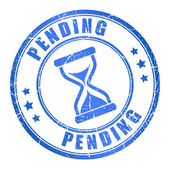 Vector pending stamp — Stock Vector