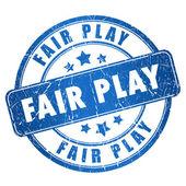 Fair play stamp — Stock Photo