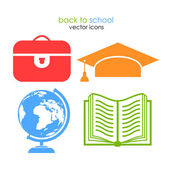 School vector icons — Stock Vector