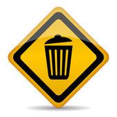 Trash bin sign — Stock Vector