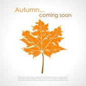 Autumn poster — Stock Vector