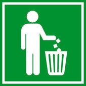 Do not litter, — Stock Vector