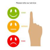 Customer service feedback — Stock Vector