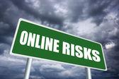 Online risk sign — Stock Photo