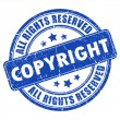 Copyright ink stamp — Stock Vector