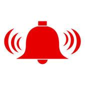 Vector alarm bell — Vettoriale Stock