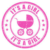 Its a girl — Stock Vector