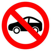 No car vector sign — Stock Vector