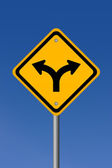 Fork road sign — Stock Photo