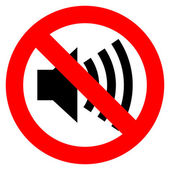No sound vector sign — Stock Vector
