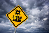 Storm warning sign — Stock Photo