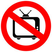 No tv sign — Stock Vector