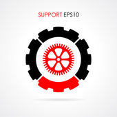 Technical support symbol — Stock Vector