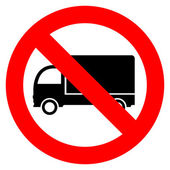 No lorry parking sign — Stock Vector