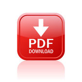 Przycisk pobierz pdf — Wektor stockowy