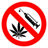 No drugs sign — Stock Vector