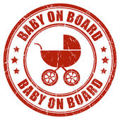 Baby on board stamp — Stock Vector