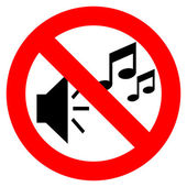 No music sign — Stock Vector