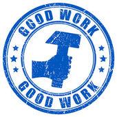 Good work stamp — Stock Vector