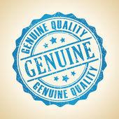 Genuine stamp — Stock Vector