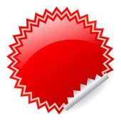 Red shiny sticker — Stock Vector