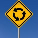 sinal de estrada do círculo — Foto Stock #49677277