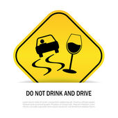 Do not drink and drive — Stock Vector