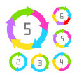 Cycle process diagram — Stock Vector