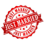 Just married stamp — Stock Vector