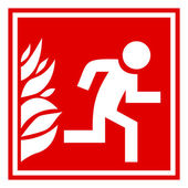 Fire evacuation sign — Stock Vector