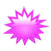 Blank bursting star — Stock Vector
