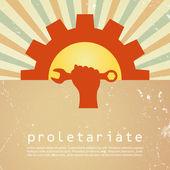 Proletariate vector poster — Stock Vector