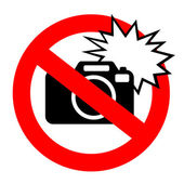 No flash photography sign — Stock Vector