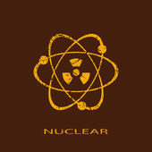 Nuclear icon — Stock Vector