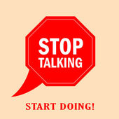 Stop talking — Stock Vector