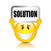 Signe de la solution — Vecteur