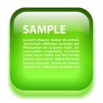 Green glass information board — Stock Vector #51045587